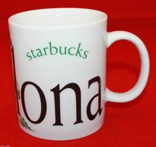 Chipped Starbucks Coffee City Mug Collector Series Barcelona Broken Display - $35.55