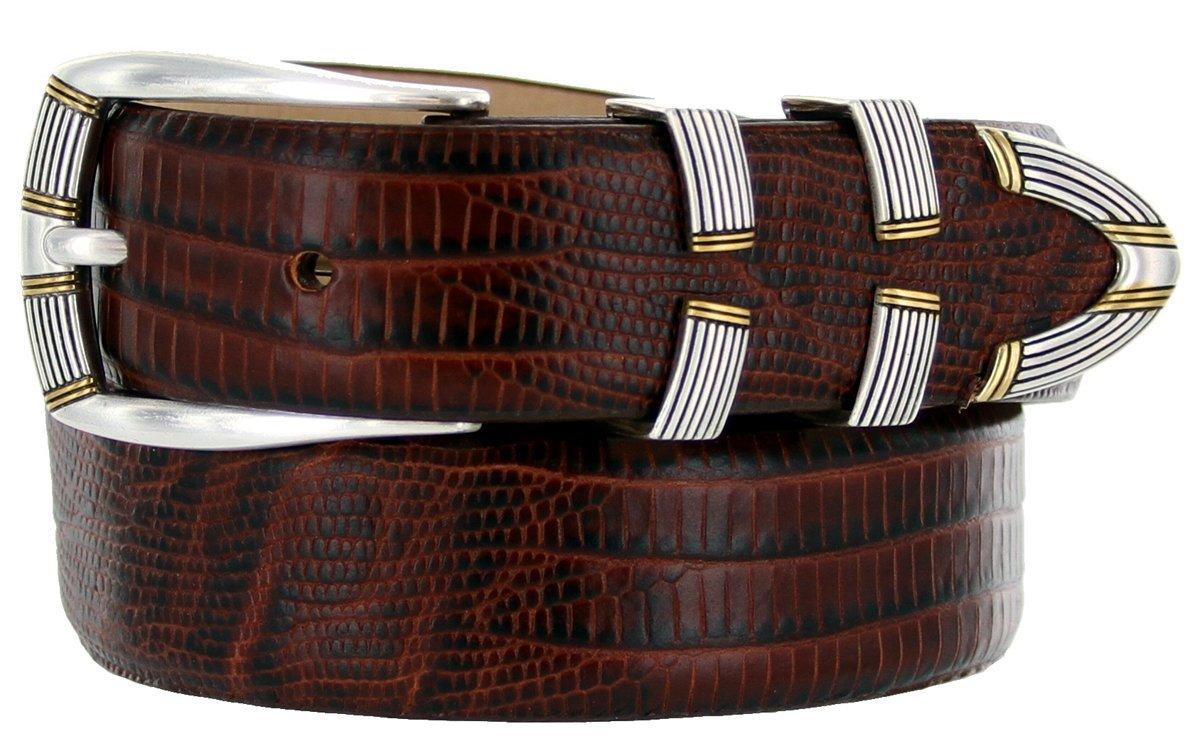 "Menlo Men's Designer Genuine Italian Calfskin Leather Dress Belt 1-1/8"" Wide ... - $29.20"