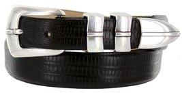 Marin Silver Italian Calfskin Leather Designer Dress Golf Belt for Men (36, L... - $29.20