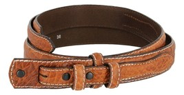 Western Ranger Genuine Leather Bison Belt Strap for Women (Tan, 40) - $29.65