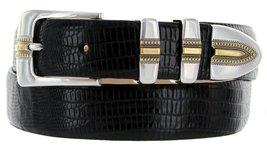 Carmelo Italian Calfskin Leather Designer Dress Golf Belt for Men (50, Lizard... - $29.20