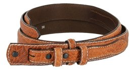 Western Ranger Genuine Leather Bison Belt Strap for Men (Tan, 42) - $29.65