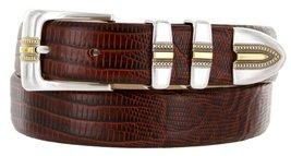Carmelo Italian Calfskin Leather Designer Dress Golf Belt for Men (34, Lizard... - $29.20