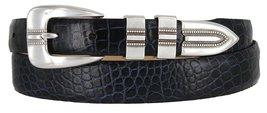Vincent Silver Genuine Italian Calfskin Leather Designer Dress Belt for Men(A... - $29.69