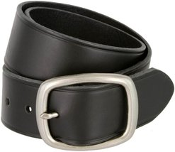 Tennessee Silver Buckle Leather Work and Uniform Casual Jean Belt (Black, 50) - $32.66