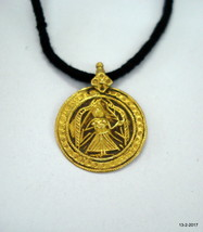 21kt gold pendant necklace amulet hindu goddess deity maa vintage antique - $325.71