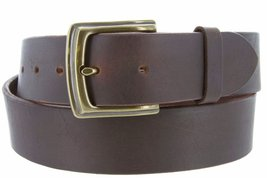 Big and Tall Womens Oil Tanned Solid Leather Belt with Vintage Metal Buckle(B... - $39.59