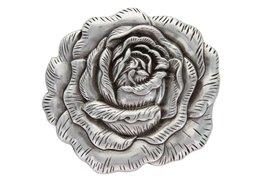 "3-d Engraved Rose Belt Buckle Made for 1.5"" Wide Straps (Antique Silver) - $8.90"
