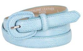 "Women's Skinny Snakeskin Embossed Genuine Leather Dress Belts 3/4"" or 19... - $9.85"