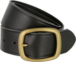 Tennessee Brass Buckle Leather Work and Uniform Casual Jean Belt (Black, 40) - $32.66
