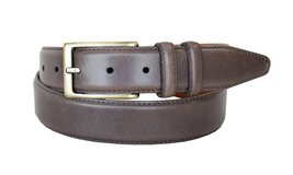 "Lejon Belt 1576 Men's Smooth Leather Dress Belt 1-1/8"" Wide Made in USA (Brow... - $19.75"