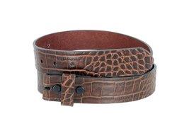 "MZ Crocodile Embossed Pattern 1-3/8"" (35mm) Wide Leather Belt Strap for Men (... - $12.63"