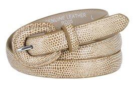 "Women's Skinny Snakeskin Embossed Genuine Leather Dress Belts 3/4"" or 19mm (T... - $9.85"
