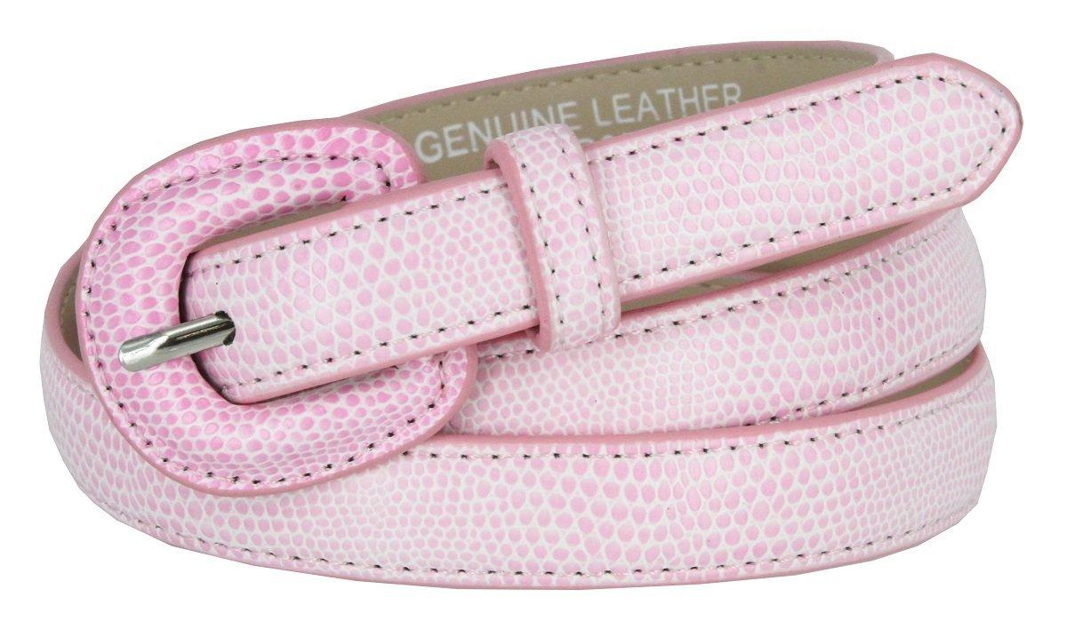 "Women's Skinny Snakeskin Embossed Genuine Leather Dress Belts 3/4"" or 19mm (P... - $9.85"