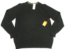 $89 NWT NEW Mens Quiksilver Pipes Cotton Wool Blend Sweater Black Size X... - $29.37