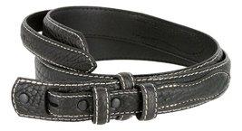 Western Ranger Genuine Leather Bison Belt Strap for Men (Black, 34) - $29.65