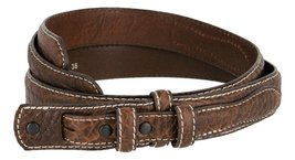 Western Ranger Genuine Leather Bison Belt Strap for Men (Brown, 42) - $29.65