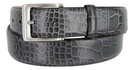 Grove Men's Genuine Italian Leather Dress Belt (54, Gray) - $29.65