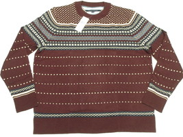 $119 NWT NEW Mens Tommy Hilfiger Omar Fair Isle Pima Wool Sweater Sz XLT... - $38.47
