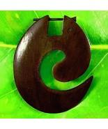 Organic Hoop Tribal Wood Earrings Natural New Tribal Funky Spiral Unique... - $12.19