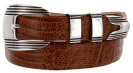 Stanley Italian Calfskin Leather Designer Dress Belts for Men(46, Lizard Tan) - $29.20