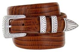 Nevada Men's Designer Genuine Italian Calfskin Leather Dress Belt (52, Lizard... - $29.20