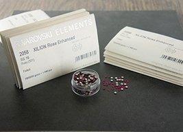 Flat back Crystal 2058 Swarovski Rhinestone No Hotfix Round 501 Ruby SS1... - $68.31