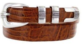 Norris Italian Calfskin Leather Designer Dress Golf Belt for Men (48, Lizard ... - $29.20