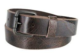 "Genuine Full Grain Vintage Leather Belt 1-1/2"" (38mm) wide w/ Roller Buckle (... - $16.78"