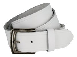 Made in USA Hand Cut Full Grain White Leather Belt for Women (White, 34) - $39.59