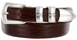 Marin Silver Italian Calfskin Leather Designer Dress Golf Belt for Men (48, L... - $29.20