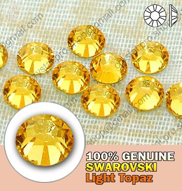 Primary image for Light Topaz 144 Non Hot Fix SWAROVSKI Rhinestones 12ss Enhanced 2058