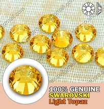 Light Topaz 144 Non Hot Fix SWAROVSKI Rhinestones 12ss Enhanced 2058 - $8.17