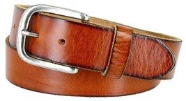 "Men's Genuine Full Grain Leather Casual Jeans Belt 1-1/2"" = 38mm (32, Tan) - $22.27"