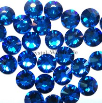 36 pcs Capri Blue (243) Swarovski 2058 Xilion / NEW 2088 Xirius 30ss Fla... - $8.32