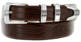 Silver Weave Italian Calfskin Leather Designer Dress Belts for Men(44, Lizard... - $29.20