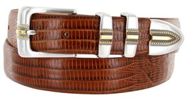 Carmelo Italian Calfskin Leather Designer Dress Golf Belt for Men (42, Lizard... - $29.20
