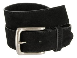 Casual Jean Suede Leather Belt for Men (Black, 34) - $14.80