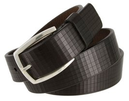 "Lejon 1-3/8"" Wide El Cubo Italian Leather Belt for Women - Made in USA (Dark ... - $29.65"
