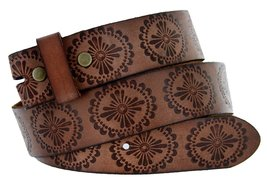 "BS70 Full Grain Leather Belt Strap 1.5"" Brown 34 - $18.76"