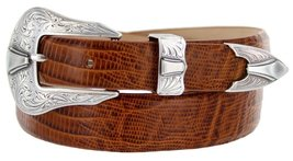 Silver Colorado Italian Calfskin Leather Designer Dress Belts for Men(32, Liz... - $29.20