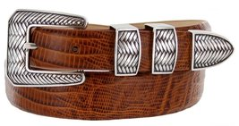 Monte Verde Italian Calfskin Leather Designer Dress Belts for Men(32, Lizard ... - $29.20