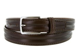 Made in Italy Oil-Tanned Italian Leather Dress Belt For Women (Brown, 38) - $19.75