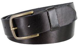 """Men's Genuine Full Grain Leather Casual Jeans Belt 1-1/2"""" = 38mm (38, Black) - $22.27"""