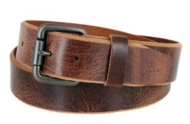 "Genuine Full Grain Vintage Leather Belt 1-1/2"" (38mm) wide w/ Roller Buckle (... - $16.78"