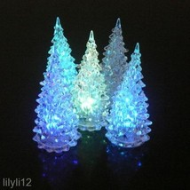Acrylic Christmas Tree LED Night Light Lamp Color Changing Decoration Gift - $2.11