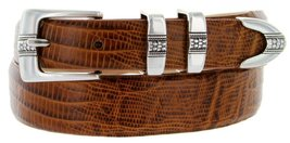 Silver Weave Italian Calfskin Leather Designer Dress Belts for Men(42, Lizard... - $29.20