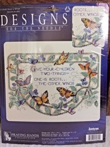 NEW Janlynn Designs ROOTS & WINGS #1139-82 Counted Cross Stitch Kit Butterflies - $12.95