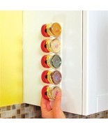 4Pcs/Set Spice Wall Rack Storage Plastic Kitchen Organizer 20 Cabinet Do... - $4.70