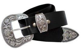 S5521 Western Full Grain Leather Belt Black 40 - $28.65